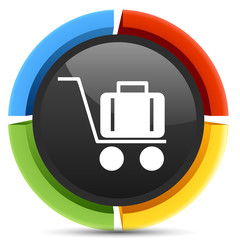 Airport trolley icon