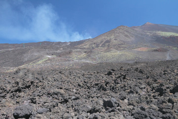 Slope of active volcano. Etna, Sicily, Italy