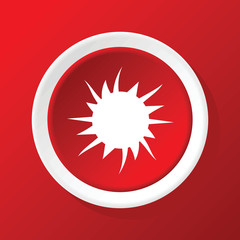 Snowflake icon on red