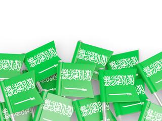 Flag pin of saudi arabia