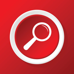 Ink pen icon on red