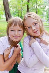 Cute two playing girls