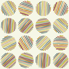 Circle seamless pattern. Brush Strokes