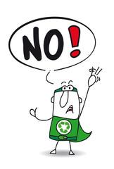 No super recycling man