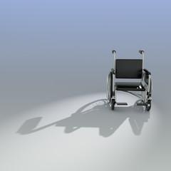 3d Wheelchair shadow