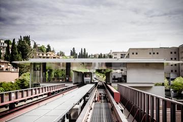 Subway station of a modern city.