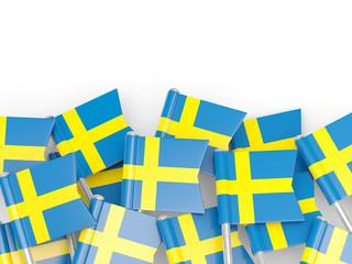 Flag pin of sweden