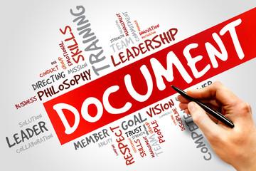 DOCUMENT word cloud, business concept