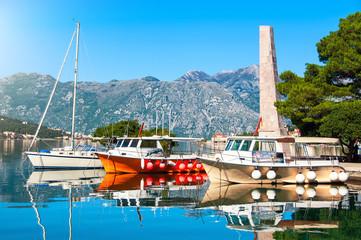 Yachts in Bay of Kotor, Montenegro