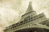 Fototapeta View on Eiffel Tower in Paris, France,Vintage image