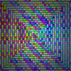 colorful mosaic cubes