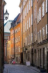 Old street in Stockholm. Sweden