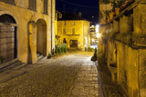 Orta San Giulio old city, night view. Color photo - 83269447