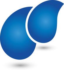 Wasser Logo, Tropfen, Flüssigkeit