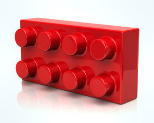 Building and construction red toy brick