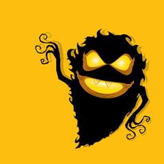 frightening monster. nightmares concept