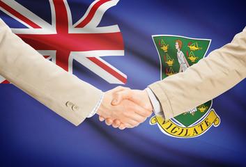 Handshake and flag - British Virgin Islands