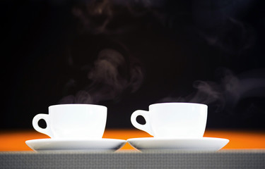 cup of tea from which coming steam