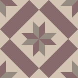 Fototapety Hydraulic vintage cement tiles