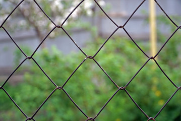 fence of metal wire