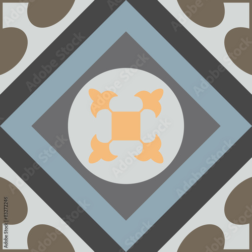 Hydraulic vintage cement tiles - 83272246