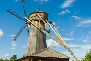 old windmill with rotating mechanism