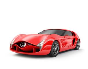 Original design red sports car