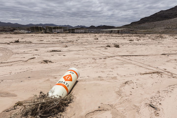 No Boats Buoy - Drought Damaged Marina at Lake Mead
