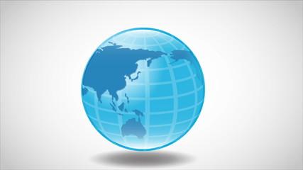 Blue world Video animation, HD 1080
