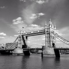 Tower Bridge in b&w
