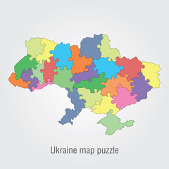 Ukraine administrative map puzzle