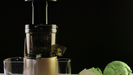 Cold press juicer for making freshly squeezed vegetable juice