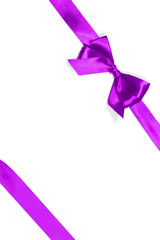 purple ribbon isolated on white
