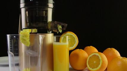 Fresh squeezed orange juice with press juicer