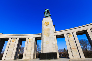 Soviet War Memorial in Berlin Tiergarten, Germany.  Monument Of