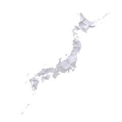 古紙の日本地図