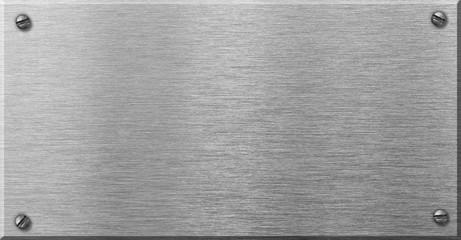 steel metal plaque with rivets