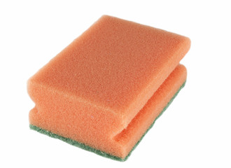 Sponge for washing utensils isolated on a white background