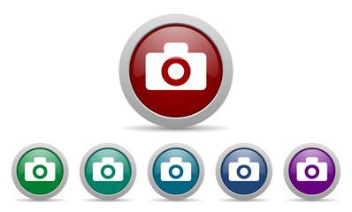 camera vector web icons set
