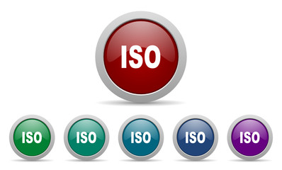 iso vector web icons set