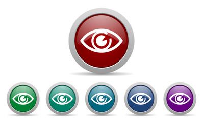 eye vector web icons set