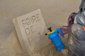 Inscription sur sable