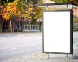 Fototapety Blank billboard on city bus station