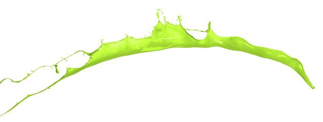 Isolated shot of green paint splash on white background14