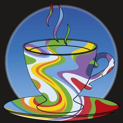 Tasse de café psychédélique