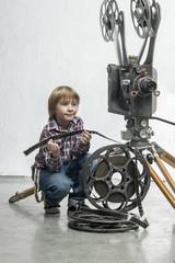 Boy in a cinema