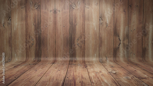 Curved wooden background - 83288200