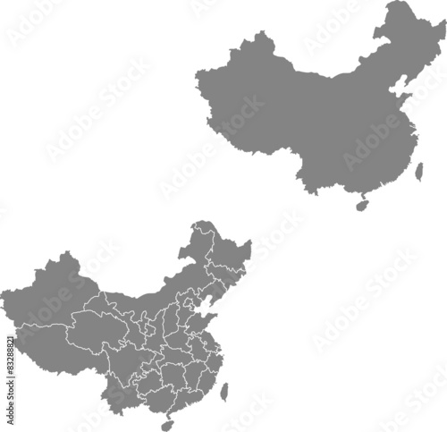 map of china - 83288821