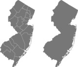 map of New Jersey - 83289899