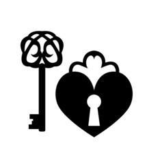 Vintage keys and keyhole